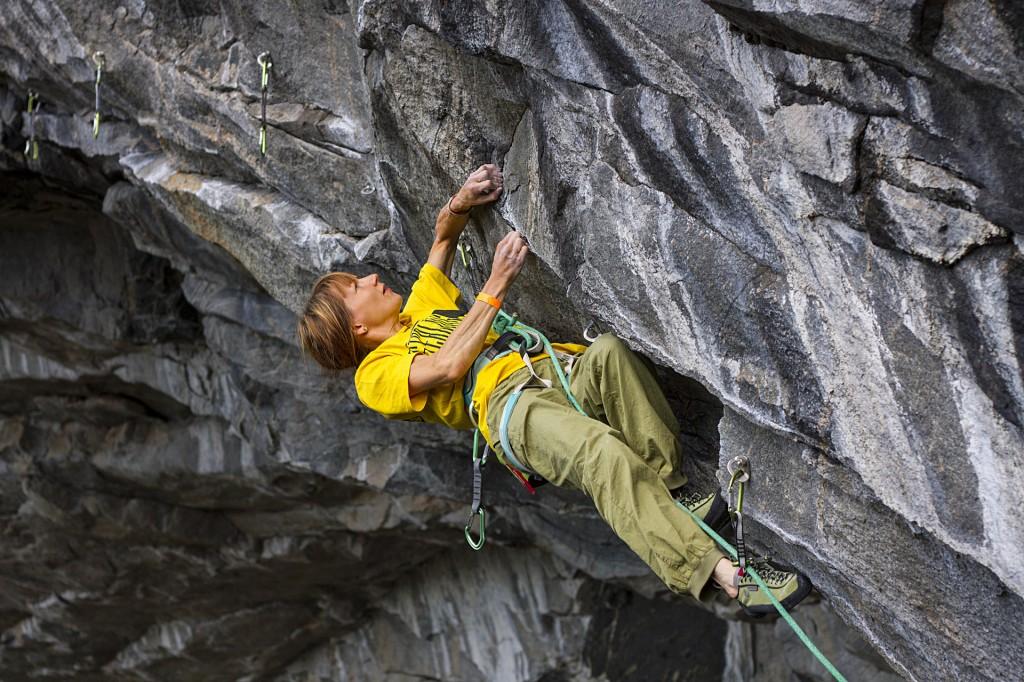 Malin Holmberg climbing in Flatanger Cave Norway, Photographer, filmmaker, Alexander Rydén, Klättring
