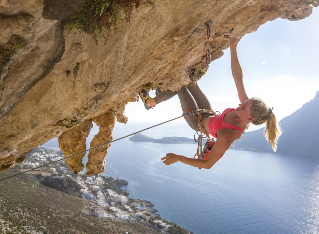 Matilda Söderlund,  climbing at Kalymnos Grande Grotta, Greece, Photographer, filmmaker, Alexander Rydén, Klättring