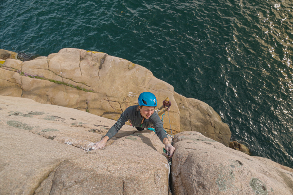 Karin Eknor climbing in Bohuslän, Sweden, Photographer, Alexander Rydén, Klättring