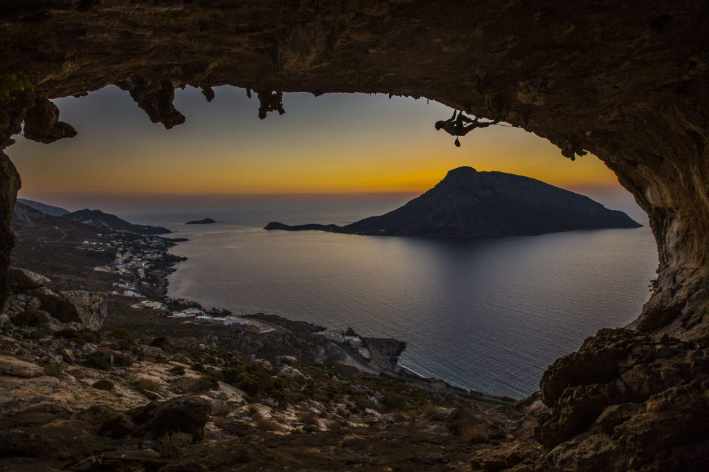 Ry Morrison climbing in Kalymnos, Greece, Photographer Alexander Rydén, Klättring