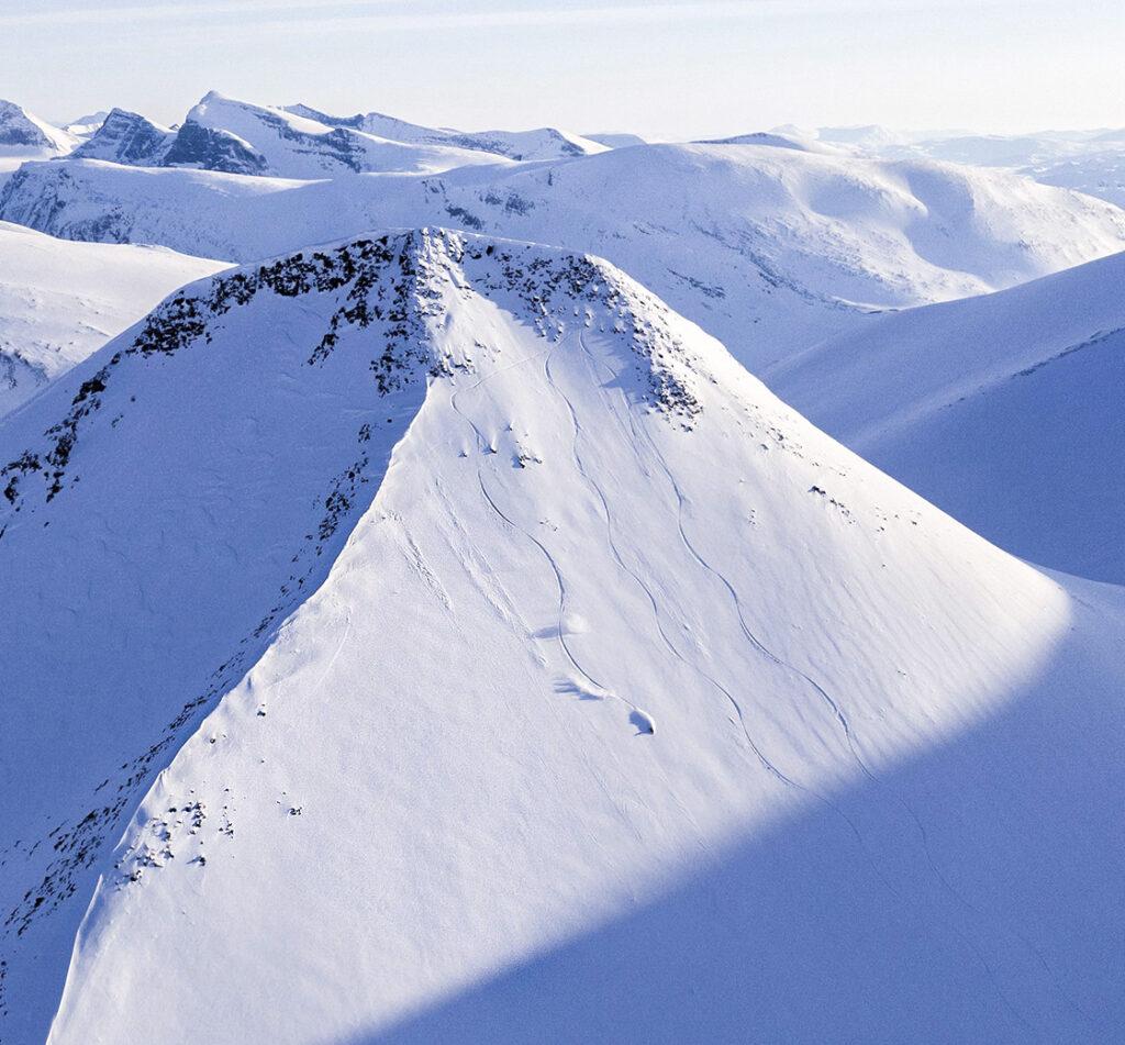 Morgan Salén Skiing high mountain in Lapland, Sweden, Photographer, filmmaker, Alexander Ryden, Skidåkning